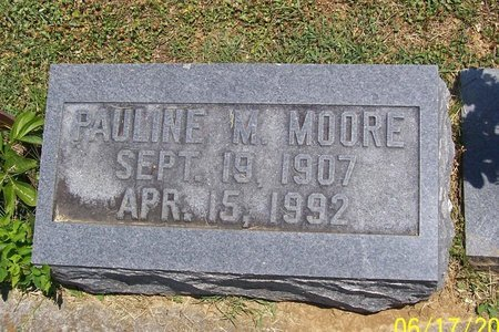MOORE, PAULINE M. - Lincoln County, Tennessee   PAULINE M. MOORE - Tennessee Gravestone Photos
