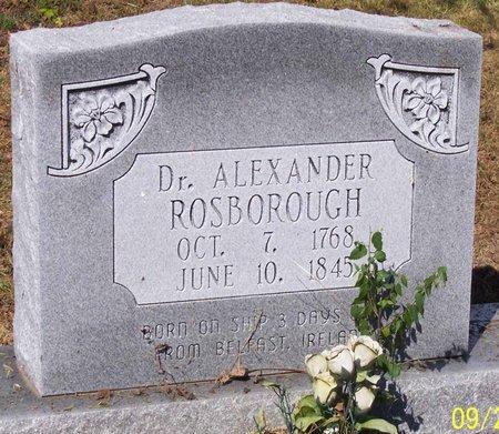 ROSBOROUGH, ALEXANDER, DR. - Lincoln County, Tennessee | ALEXANDER, DR. ROSBOROUGH - Tennessee Gravestone Photos
