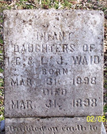 WAID, INFANT DAUGHTERS - Lincoln County, Tennessee | INFANT DAUGHTERS WAID - Tennessee Gravestone Photos