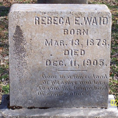 WAID, REBECA E. - Lincoln County, Tennessee | REBECA E. WAID - Tennessee Gravestone Photos