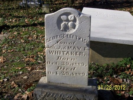 WHITAKER, GEORGE LEFTWICH - Lincoln County, Tennessee | GEORGE LEFTWICH WHITAKER - Tennessee Gravestone Photos