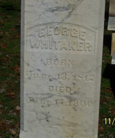 WHITAKER, GEORGE (CLOSE UP) - Lincoln County, Tennessee | GEORGE (CLOSE UP) WHITAKER - Tennessee Gravestone Photos