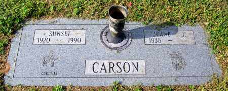 CARSON, SUNSET - Madison County, Tennessee | SUNSET CARSON - Tennessee Gravestone Photos