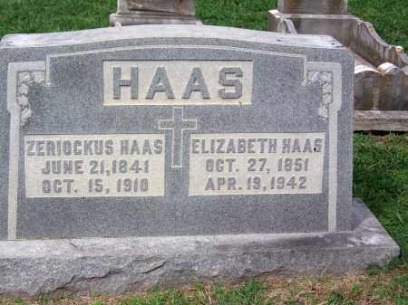 HAAS, ZERIOCKUS - Madison County, Tennessee | ZERIOCKUS HAAS - Tennessee Gravestone Photos