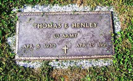 HENLEY, THOMAS E - Madison County, Tennessee | THOMAS E HENLEY - Tennessee Gravestone Photos