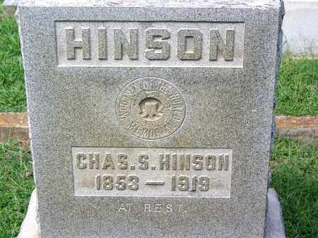 HINSON, CHARLES S - Madison County, Tennessee | CHARLES S HINSON - Tennessee Gravestone Photos