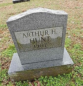 HUNT, ARTHUR H - Madison County, Tennessee   ARTHUR H HUNT - Tennessee Gravestone Photos