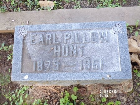 HUNT, EARL PILLOW - Madison County, Tennessee | EARL PILLOW HUNT - Tennessee Gravestone Photos