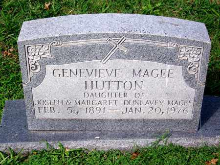MAGEE HUTTON, GENEVIEVE - Madison County, Tennessee | GENEVIEVE MAGEE HUTTON - Tennessee Gravestone Photos