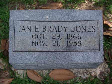 BRADY JONES, JANIE - Madison County, Tennessee | JANIE BRADY JONES - Tennessee Gravestone Photos