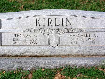 KIRLIN, MARGARET A - Madison County, Tennessee | MARGARET A KIRLIN - Tennessee Gravestone Photos