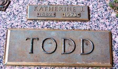 TODD, KATHERINE J - Madison County, Tennessee | KATHERINE J TODD - Tennessee Gravestone Photos
