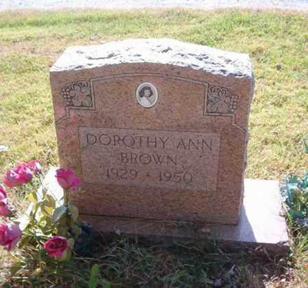BROWN, DOROTHY ANN - Maury County, Tennessee | DOROTHY ANN BROWN - Tennessee Gravestone Photos