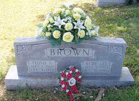 BROWN, FLOYD F. - Maury County, Tennessee | FLOYD F. BROWN - Tennessee Gravestone Photos