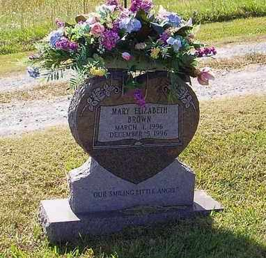BROWN, MARY ELIZABETH - Maury County, Tennessee | MARY ELIZABETH BROWN - Tennessee Gravestone Photos