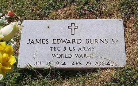 BURNS, SR (VETERAN WWII), JAMES EDWARD - Maury County, Tennessee | JAMES EDWARD BURNS, SR (VETERAN WWII) - Tennessee Gravestone Photos