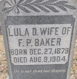 BAKER, LULA D. - McNairy County, Tennessee | LULA D. BAKER - Tennessee Gravestone Photos