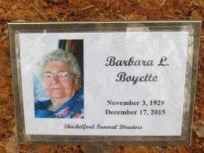 BOYETTE, BARBARA L. - McNairy County, Tennessee | BARBARA L. BOYETTE - Tennessee Gravestone Photos