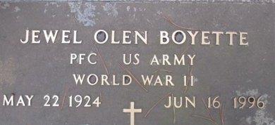 BOYETTE (VETERAN WWII), JEWEL OLEN - McNairy County, Tennessee | JEWEL OLEN BOYETTE (VETERAN WWII) - Tennessee Gravestone Photos