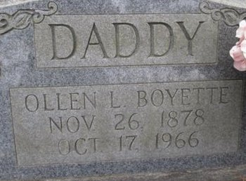 BOYETTE, OLLEN L. - McNairy County, Tennessee | OLLEN L. BOYETTE - Tennessee Gravestone Photos