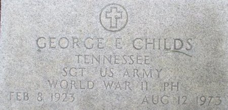 CHILDS (VETERAN WWII), GEORGE E. - McNairy County, Tennessee | GEORGE E. CHILDS (VETERAN WWII) - Tennessee Gravestone Photos