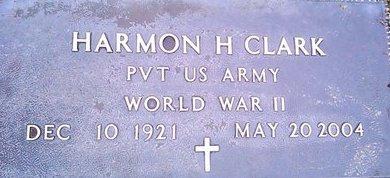 CLARK (VETERAN WWII), HARMON H. - McNairy County, Tennessee | HARMON H. CLARK (VETERAN WWII) - Tennessee Gravestone Photos