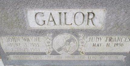 GAILOR, JOHN WAYNE - McNairy County, Tennessee   JOHN WAYNE GAILOR - Tennessee Gravestone Photos