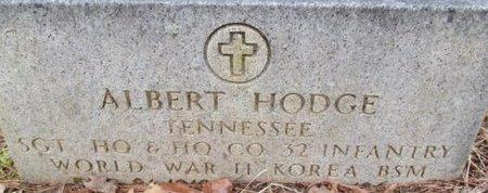 HODGE (VETERAN WWII KOR), ALBERT - McNairy County, Tennessee   ALBERT HODGE (VETERAN WWII KOR) - Tennessee Gravestone Photos