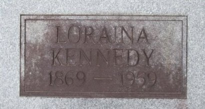 VICKERS KENNEDY, LORRAINE LUCINDA - McNairy County, Tennessee | LORRAINE LUCINDA VICKERS KENNEDY - Tennessee Gravestone Photos