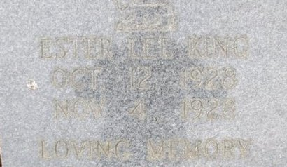 KING, ESTER LEE - McNairy County, Tennessee | ESTER LEE KING - Tennessee Gravestone Photos