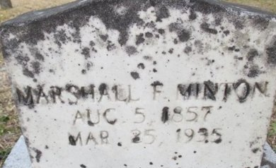 MINTON, MARSHALL FRANKLIN - McNairy County, Tennessee | MARSHALL FRANKLIN MINTON - Tennessee Gravestone Photos