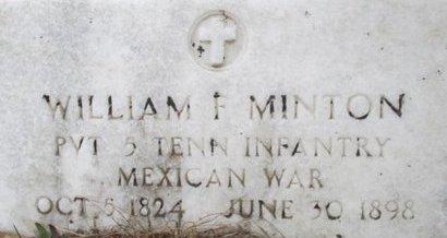 MINTON (VETERAN MAW), WILLIAM F. - McNairy County, Tennessee | WILLIAM F. MINTON (VETERAN MAW) - Tennessee Gravestone Photos