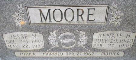 MOORE, JESSE N. - McNairy County, Tennessee | JESSE N. MOORE - Tennessee Gravestone Photos
