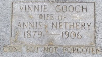 GOOCH NETHERY, VINNIE - McNairy County, Tennessee | VINNIE GOOCH NETHERY - Tennessee Gravestone Photos