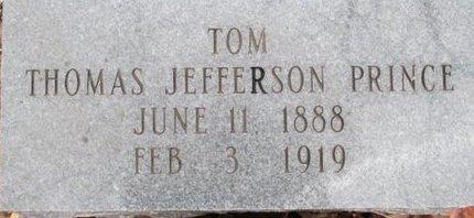 PRINCE, THOMAS JEFFERSON - McNairy County, Tennessee | THOMAS JEFFERSON PRINCE - Tennessee Gravestone Photos