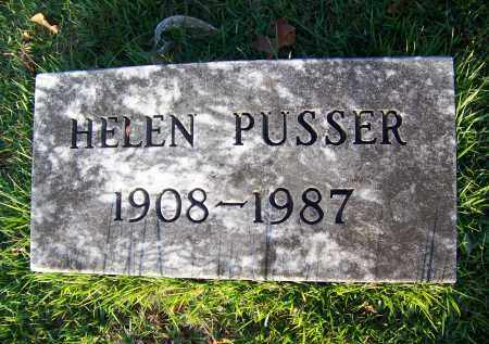 PUSSER, HELEN - McNairy County, Tennessee | HELEN PUSSER - Tennessee Gravestone Photos