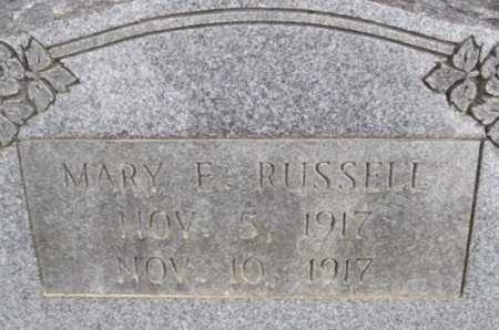 RUSSELL, MARY ETTA - McNairy County, Tennessee | MARY ETTA RUSSELL - Tennessee Gravestone Photos