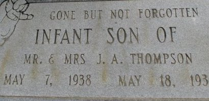 THOMPSON, INFANT SON - McNairy County, Tennessee | INFANT SON THOMPSON - Tennessee Gravestone Photos