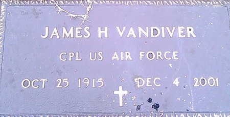 VANDIVER (VETERAN), JAMES H. - McNairy County, Tennessee | JAMES H. VANDIVER (VETERAN) - Tennessee Gravestone Photos
