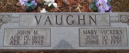 VAUGHN, MARY - McNairy County, Tennessee | MARY VAUGHN - Tennessee Gravestone Photos