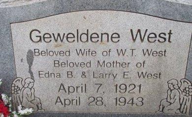 WEST, GEWELDENE - McNairy County, Tennessee | GEWELDENE WEST - Tennessee Gravestone Photos
