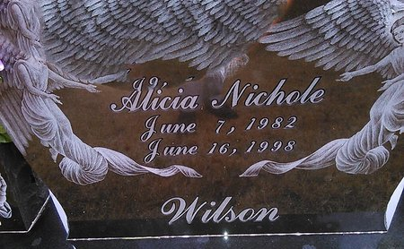 WILSON, ALICIA NICHOLE - McNairy County, Tennessee | ALICIA NICHOLE WILSON - Tennessee Gravestone Photos