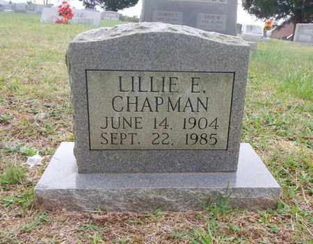 CHAPMAN, LILLIE E - Morgan County, Tennessee | LILLIE E CHAPMAN - Tennessee Gravestone Photos