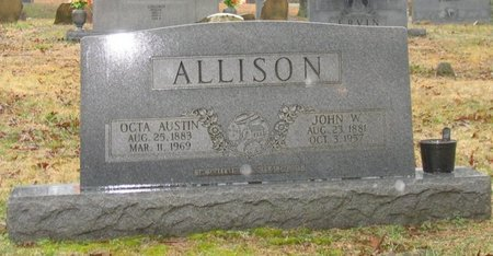 ALLISON, JOHN WHITLEY - Putnam County, Tennessee | JOHN WHITLEY ALLISON - Tennessee Gravestone Photos
