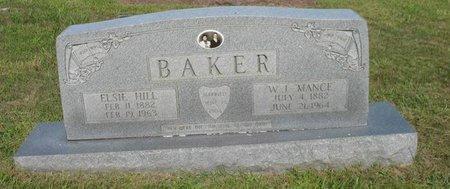 HILL BAKER, ELSIE - Putnam County, Tennessee | ELSIE HILL BAKER - Tennessee Gravestone Photos