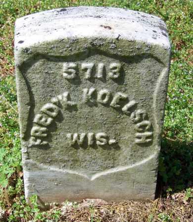 KOELSCH  (VETERAN UNION), FREDERICK - Rutherford County, Tennessee | FREDERICK KOELSCH  (VETERAN UNION) - Tennessee Gravestone Photos