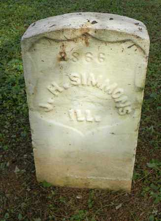SIMMONS  (VETERAN UNION), J. H. - Rutherford County, Tennessee | J. H. SIMMONS  (VETERAN UNION) - Tennessee Gravestone Photos
