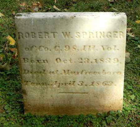 SPRINGER  (VETERAN UNION), ROBERT W. - Rutherford County, Tennessee | ROBERT W. SPRINGER  (VETERAN UNION) - Tennessee Gravestone Photos