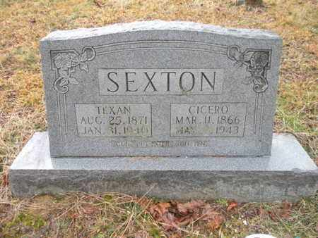 SEXTON, CICERO - Scott County, Tennessee   CICERO SEXTON - Tennessee Gravestone Photos