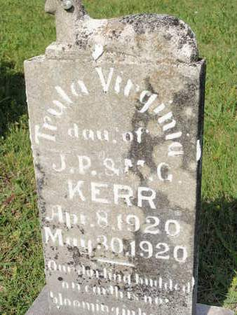 KERR, TRULA VIRGINIA - Sevier County, Tennessee   TRULA VIRGINIA KERR - Tennessee Gravestone Photos